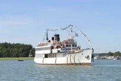 Steamship s/s Ukkopekka coming to harbour in Naantali