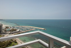 Jaffa view from the private balconies of the guestrooms.