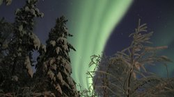 Auroras are moving all the time. You can easily imagine that you are on the edge of the Earth.