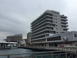 Hotel at the harbour, next to Karato Fish Market