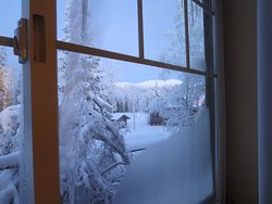 view from 2nd floor room in Moose Lodge
