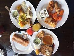 Delicious breakfast at brightland