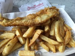 Small haddock and chips