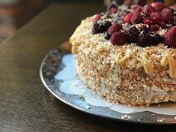 Coconut & Berry Cake!