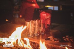 Get toasty at one of our firepit tables!