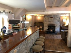Our bar area is perfect for drinking and dining - especially if you have a dog with you
