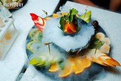Блюда кухни - Дымящийся Фруктовый микс