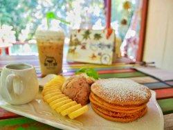 Ice Caramel Latte /Sandwich/BananaPancake/Ice Americano