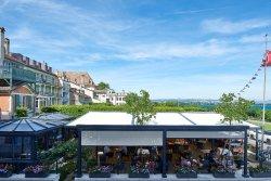 Terrace at Romantik Hotel Mont-Blanc Au Lac