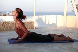 Practice at a Caveland yoga terrace