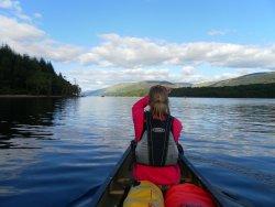 Canoeing on the Great Glen, Scotland