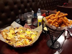 Nachos and the BEST sweet potato fries!