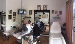 our client feel comfortable getting tattoo by our artist , clean 100% international Hygene stand (299277718)