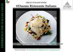 Signature , Delicious Italian Dishes! Enjoy!