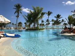 Pool area outside Seaside Grill & Oceana Restaurant