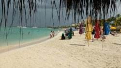 Panorámica de un sector de la playa
