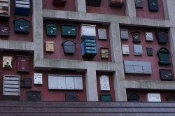 Wall of Mailboxes