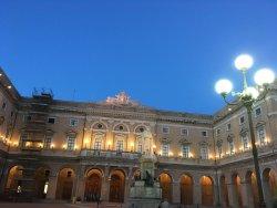 Piazza Giacomo Leopardi e Palazzo Comunale