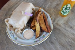 poboy and cajun wedges