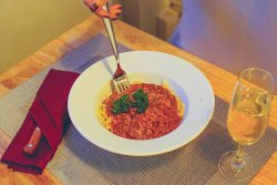 Bolognese spaghetti for happy Wednesday!! # Olivelunch #goodfood