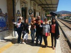 Pinhão train station. Beautiful tiles!