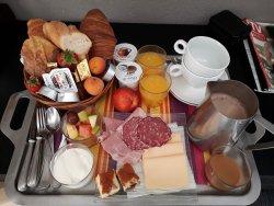 Exemple de petit déjeuner servie en chambre