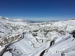 yes, it was snowing in the atlas mountains!
