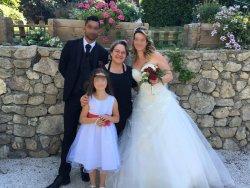 Tradition au Domaine du Vert Moulin : la photo des mariés avec la chef !