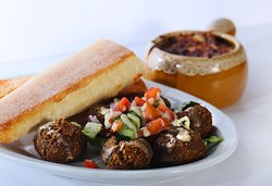 Falafels and French Onion Soup