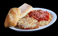 Chicken Parmigiana (Veal and Eggplant Parmigiana also available)