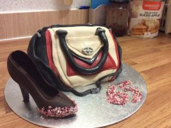 Yes it's a cake handbag and shoes