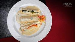 Canneloni di Ricotta e Spinaci in Salsa Gorgonzola, Cannellonis farcis aux épinards et ricotta