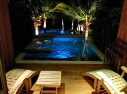 Private Pool Room at night