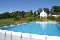 la piscine hors sol installée depuis juin 2017
