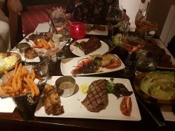 We all had steak, then ribs and lobster to share as well. All lovely food.