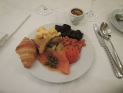 Nice plate of food at the breakfast buffet