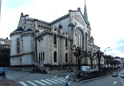 Façade latérale de l'église