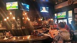 The bar in Harry Caray's Tavern