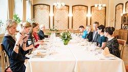 8 - course meal dinner at Scheeli!