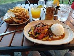 Mixed Veggies and Fish & Chips