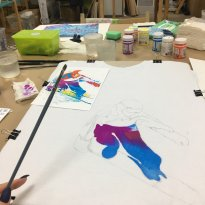 Art-Studio Colour Mountains