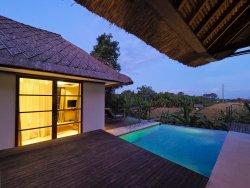 Two Bedroom Villa - Pool Area overlooking rice fields and ocean