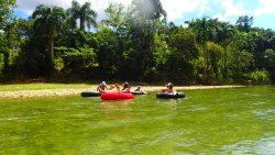 Make yourself comfortable on the inner tubes and enjoy the nature