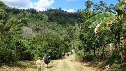 Walking to the river - beautiful Dominican Republic