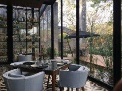 21st century restaurant inside a colonial hacienda