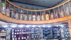 Other side view of the store..tea, spices and curries.