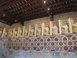 Sala del Capitolo,affreschi di Tommaso da Modena