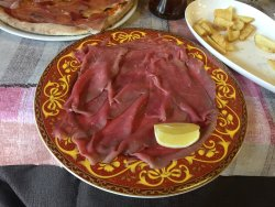 Carpaccio di Carne Salada ... ottimo!