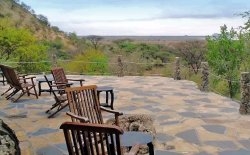 Comfortable tented-lodge, good service, great views over the national park