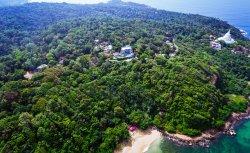 Lounge around atop the Rumassala hills overlooking Jungle Beach